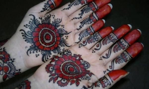 Black Mehandi for Brides Hands