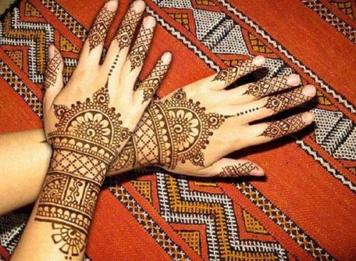 Cute Finger Mehandi Design