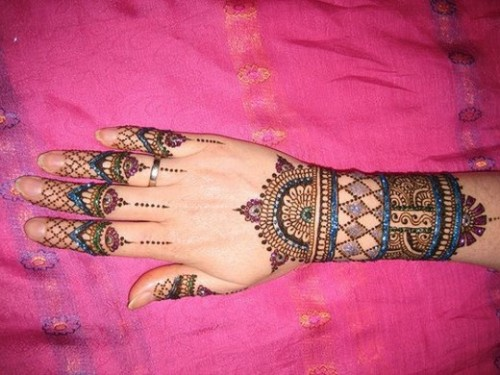 Cute Finger Mehandi Design1
