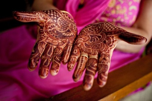 Dark Brown Colour Mehandi for Wedding Occassions