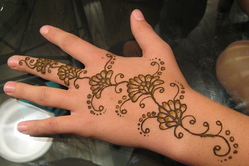 Flowers with Shading Mehandi Designs for Hands