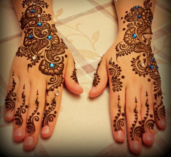 Mehandi Designs for Engagement Parties