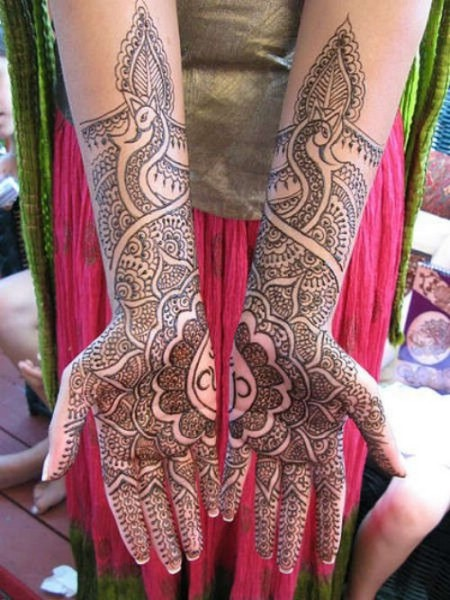 Peacock Mehandi Designs for Brides