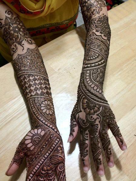 Wonderful Mehandi Designs for Full Hands
