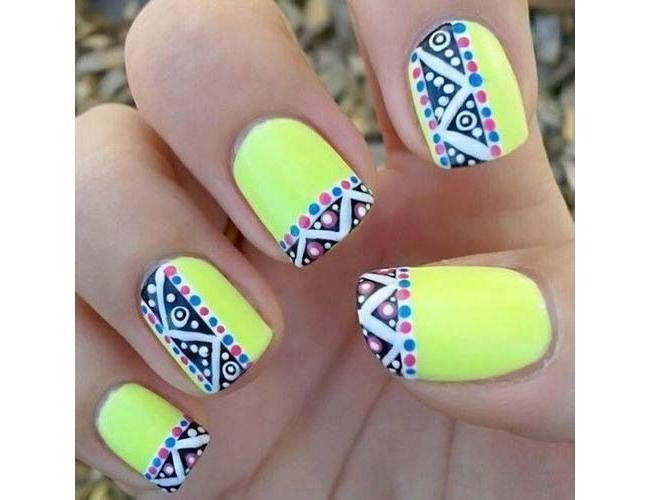Aztec-Inspired-Nail-Art