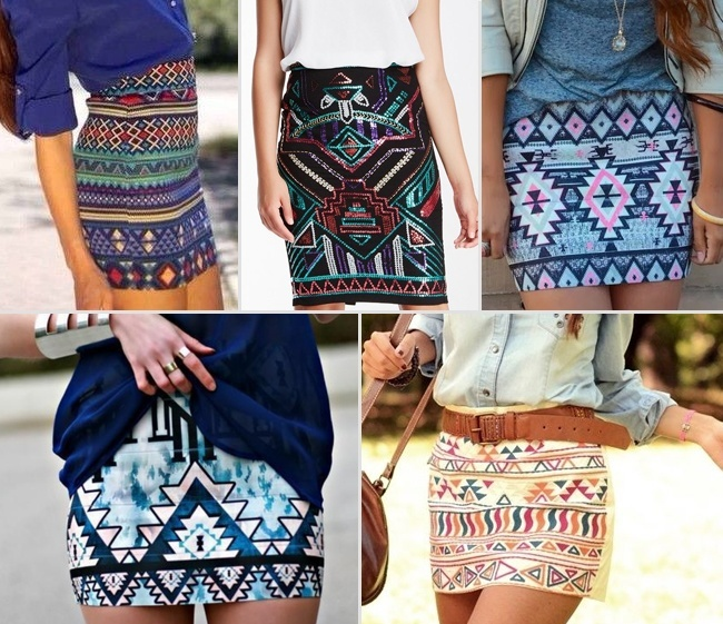 Aztec-printed-Skirts