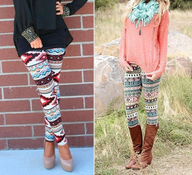 Aztec-printed-leggings