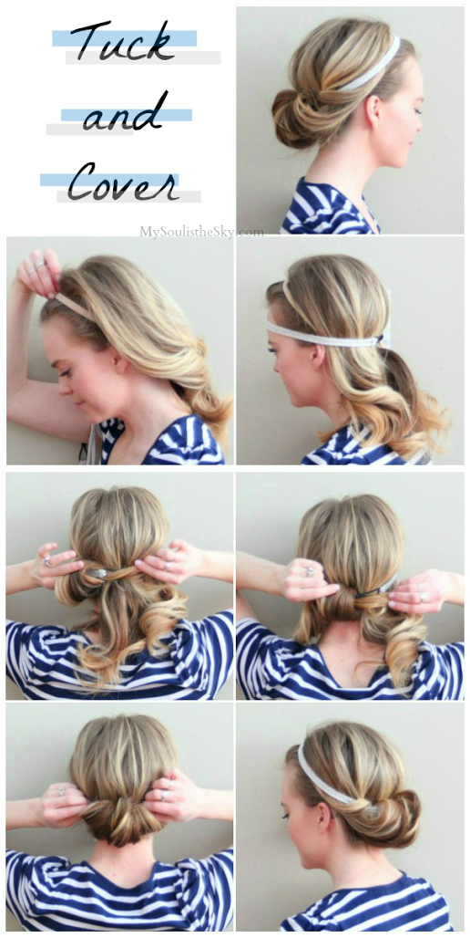 tuck fold hairstyle