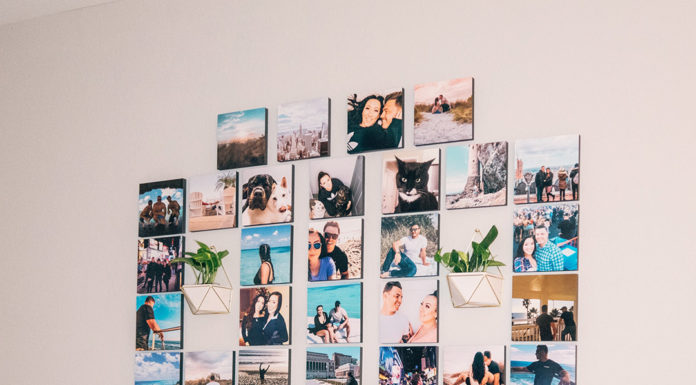 stickable photo tiles