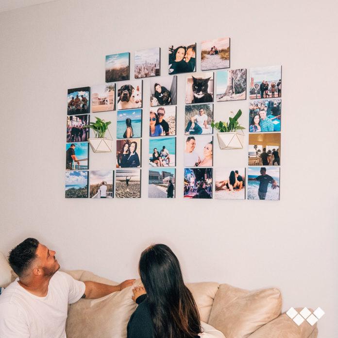 stickable photo tiles