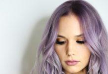 girl is purple hair color