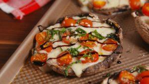 Caprese stuffed mushrooms recipe