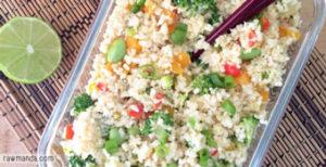 raw cauliflower fried rice