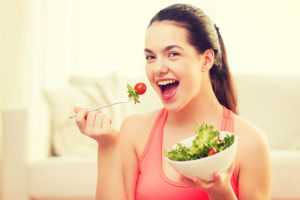 Healthy diet to prevent teenage acne