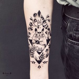 Abstract Black work tattoo