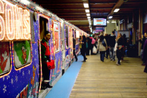 ride in CTA Holiday Train