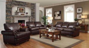 Coaster Colton Leather Sofa