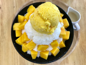 how to make pineapple-mango shave ice