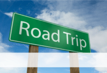 Sign Boad of road Trip